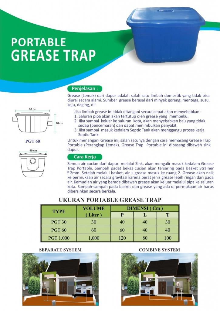 Brosur grease trap